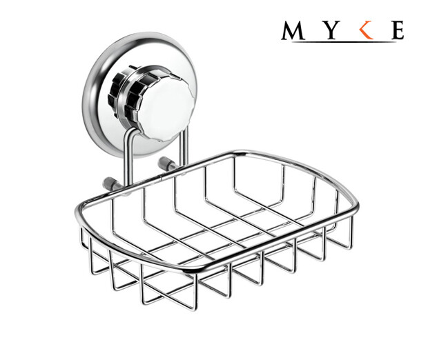 MYKE 73121 Suction Cup Soap Holder Chrome
