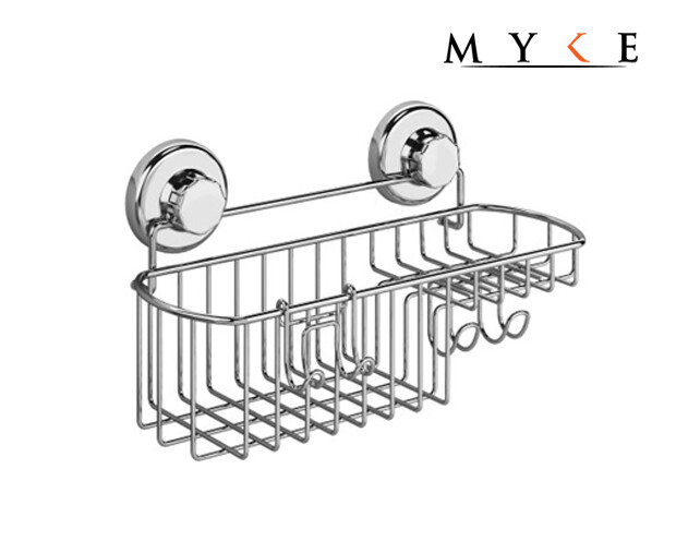MYKE 73124B Suction Cup Combo Soap Holder