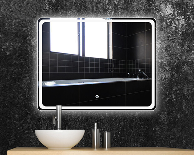MYKE Illuminated Mirror w/ Defogger 610