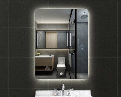 MYKE Illuminated Mirror w/ Defogger 608