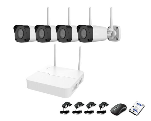 Qube Wireless NVR CCTV Kit 4ch 1080P Indoor/Outdoor