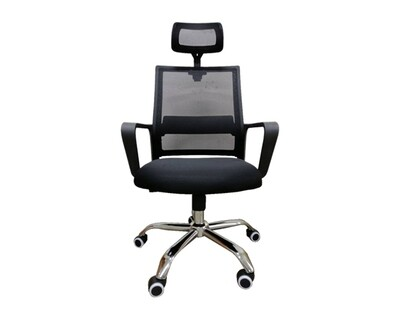 Ofix Deluxe-45/ 45W High Back Mesh Chair (Black, Blue, Pink, White+Pink, White+Blue, All-White)