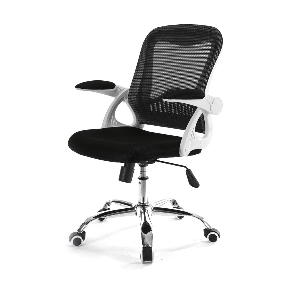 Ofix Deluxe-12 Mid Back Mesh Chair (Pink, Black)