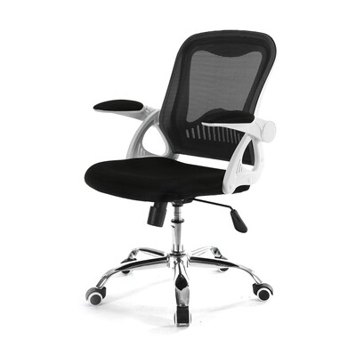 (Sale) Ofix Deluxe-12 Mid Back Mesh Chair (Black)