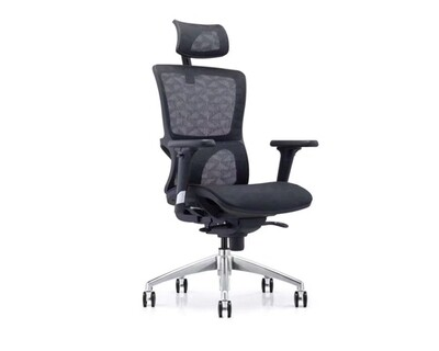 (Sale) Ofix Korean-X18 XTM High Back All Mesh Chair (Black) (Light Scratches/ Rusty Screw)