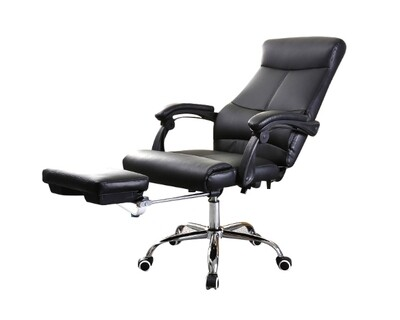 (Sale) Ofix Deluxe-9 High Back (Black) (No Footrest/Torn/Scratches)