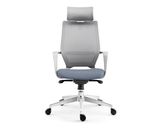 Ofix Korean-107 High Back Mesh Chair (Blue & Gray)