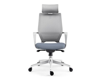 Ofix Korean-107 High Back Mesh Chair (Gray)