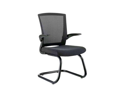 Ofix Korean-41 Waiting Chair Mid Back Mesh (Black)