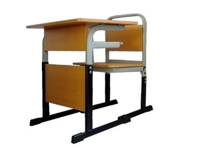 Ofix Deluxe-19 Kiddie/School Chair and Table Set (Adjustable) (Beech, Blue, Orange)