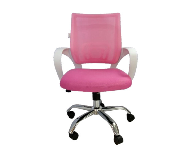 Ofix Deluxe-5W Mid Back Mesh Chair (Pink+White, Blue+White)