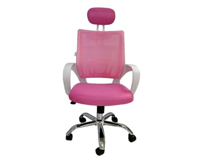 Ofix Deluxe-5HW High Back Mesh Chair (Pink, Red, Purple, Light Blue, White)
