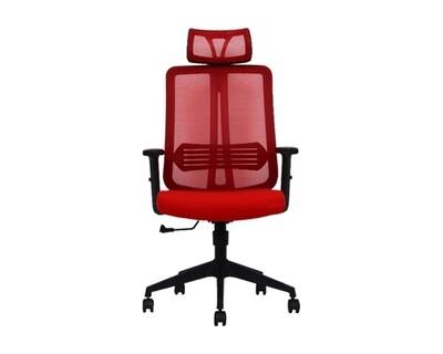 Ofix Korean-102J High Back Mesh Chair (Black, Red)