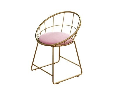 Ofix Naya Steel Chair (Pink, Gray)