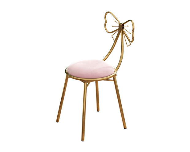 Ofix Sofia Steel Chair (Pink, Gray)