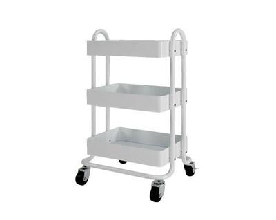 Ofix Travis 3-Layer Metal Trolley (White, Blue, Grey, Pink)