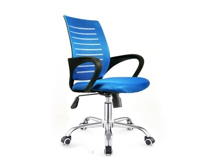 Ofix Deluxe-49 Mid Back Mesh Chair (Blue)