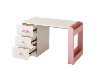 Ofix Olympia Study Table (Chair not Included) (Pink+White)