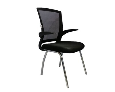 Ofix Deluxe-51W Mid Back Mesh Chair (Black)