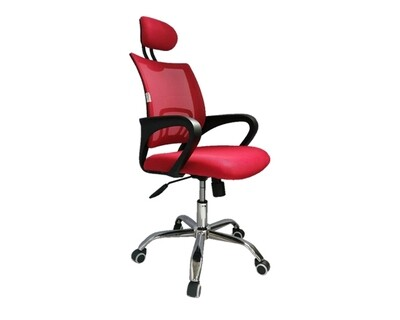 Ofix Deluxe-5H High Back Mesh Chair (Red, Purple, Pink, Grey, Orange)