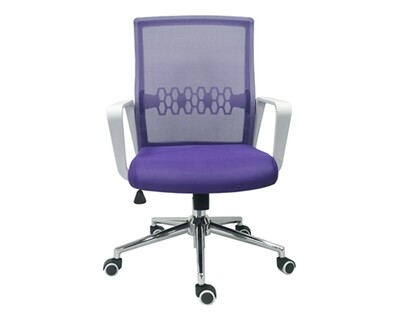 Ofix Premium-33 High Back Mesh Chair (Pink, Purple)