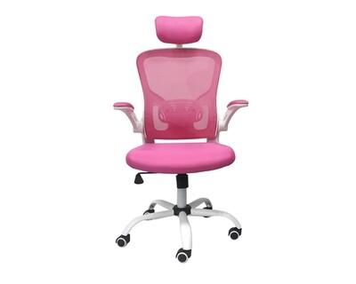 Ofix Premium-30/ 31 High Back Mesh Chair (Pink, Black)