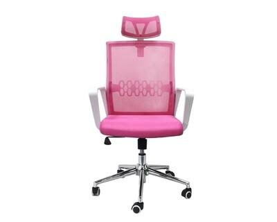 Ofix Premium-34 High Back Mesh Chair (Pink)