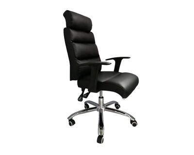 Ofix Premium-15 High Back PU Chair (Brown, Black)
