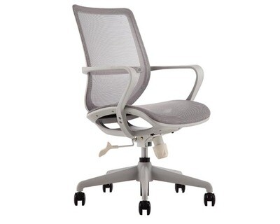 Ofix Korean F14 Mid Back All Mesh Chair (Black, Gray)