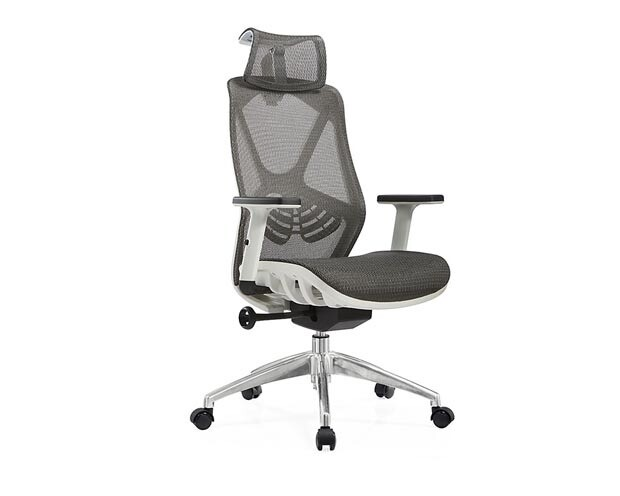 Ofix Korean F16-XTM All Mesh High Back Chair (Gray, Blue)