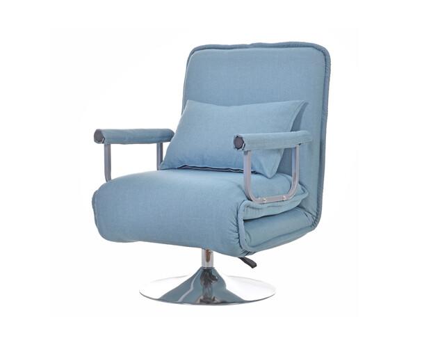 Flotti Vida Foldable-Sofa (Light Blue, Fuschia Pink)