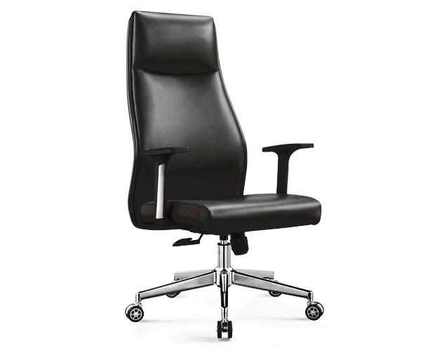 Ofix Premium-7 High Back PU Chair (Black, Gray)