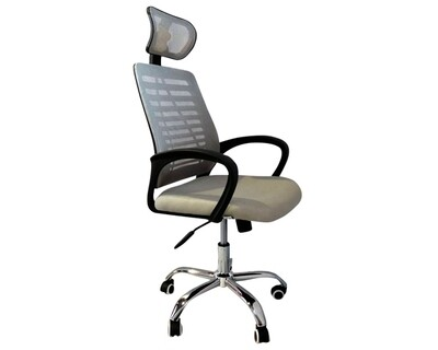 Ofix Deluxe-43 High Back Mesh Office Chair (Color: Grey, Red, White+Pink)