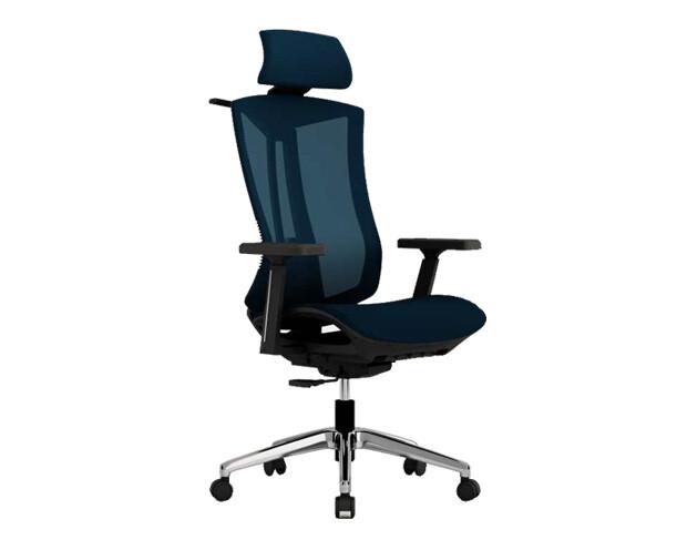 Ofix Korean F18 XTM Flexi Back, Fabric Mesh Chair (Blue, Red, Gray)