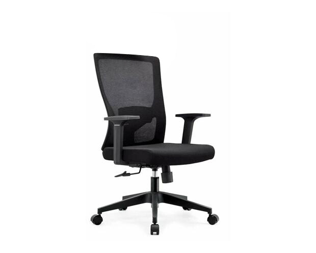 Ofix Korean-100J Mid Back Mesh Chair (Gray, Black)