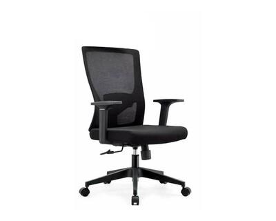 Ofix Korean-100J Mid Back Mesh Chair (Gray, Black)