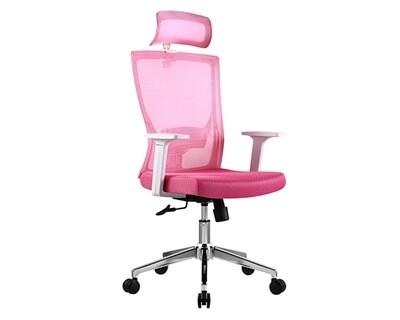 Ofix Korean-101P High Back Mesh Chair (White-Pink, White+Black, White+Blue)