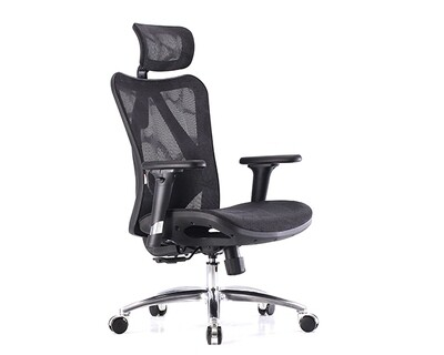 (Sale) Ofix Deluxe-M16 XTM High Back All Mesh Chair (Black) (Light Scratches & Torn)