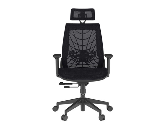 Ofix Korean-114/ 115 High Back All Mesh Chair (Dark Grey, Black)