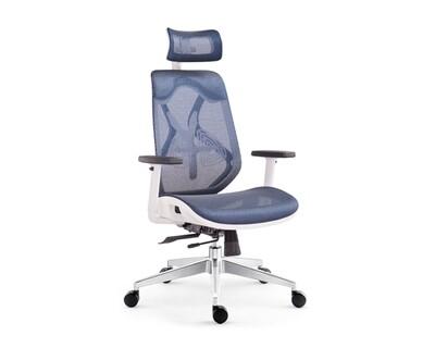 Ofix Korean-104/ 105 High Back All Mesh Chair (Black, Blue)