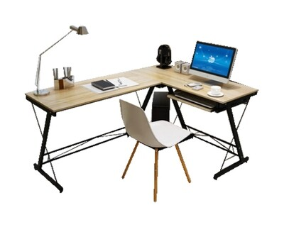 Ofix Desk 15 L-Shape Desk (Light Top, Dark Top) (120x48) (Chair Not Included)