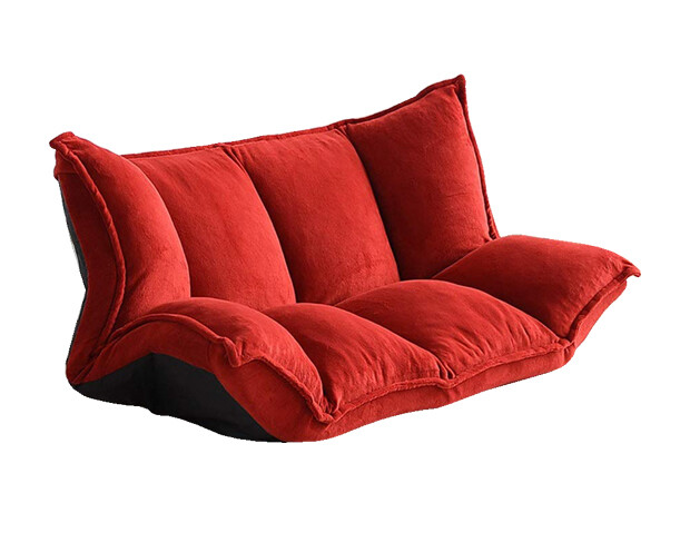 Flotti Opal Floor Sofa (Dark Red)