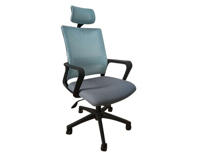 Ofix Deluxe-45N/45NW Nylon Base High Back Mesh Chair (Blue Grey, Red Grey, Pink White, Purple White)