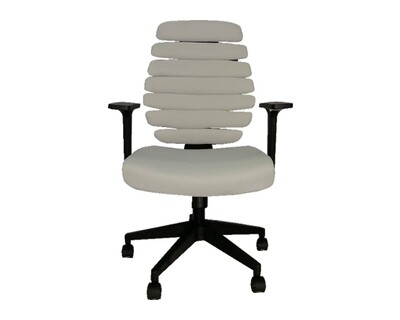 (Sale) Ofix Deluxe-20 Bionic Back Office Chair (Grey) (Light Scratches & Mesh Torn)