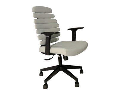 (Sale Item) Ofix Deluxe-20 Bionic Back Office Chair (Grey) (Holes in backrest )