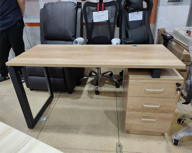 (Sale Item) Ofix 211-OF (140x60) Desk (Wooden) (Repaired Drawer Top)