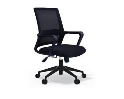 Ofix Deluxe-8 Mid Back Mesh Chair (Black, Red, Blue, Pink, Orange, White+Pink, White+Blue, All White)