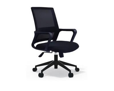 Ofix Deluxe-8 Mid Back Mesh Chair (Black, Orange, White+Pink, White+Blue)