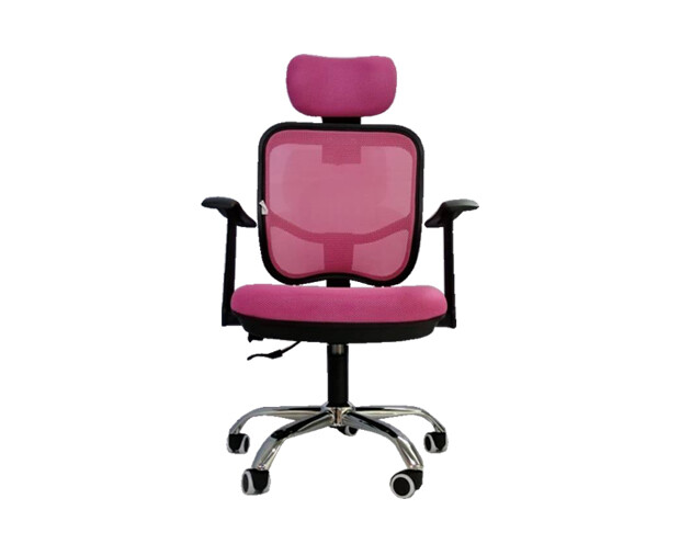 Ofix Deluxe-3 High Back Mesh Chair (Pink, Black, Grey)