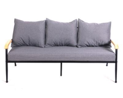 Flotti Canaan Metal Sofa 3-Seater (Purple, Pink, Grey)